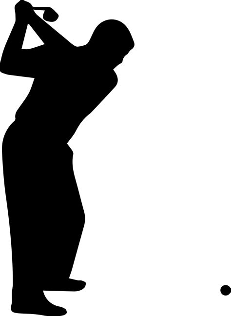 golf swing silhouette free stock photo of golfer silhouette vector clipart