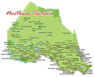 map of northern ontario canada