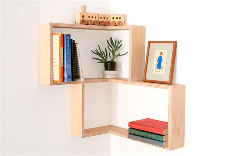 modern wall book shelves diy corner shelf display