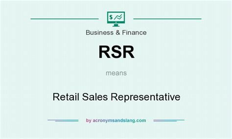 rsr retail sales representative in business finance by