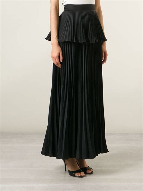 issa pleated peplum skirt in black lyst