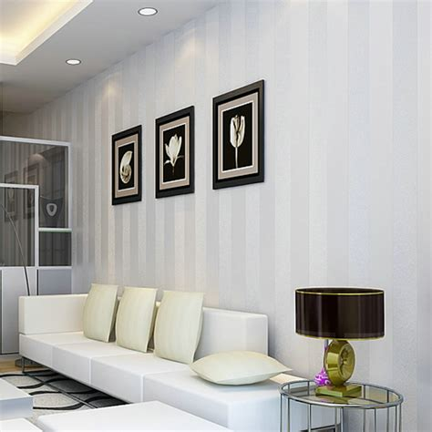 Living Room Wallpaper Singapore D Non Woven Bedroom Anyway The Neutral Stripe