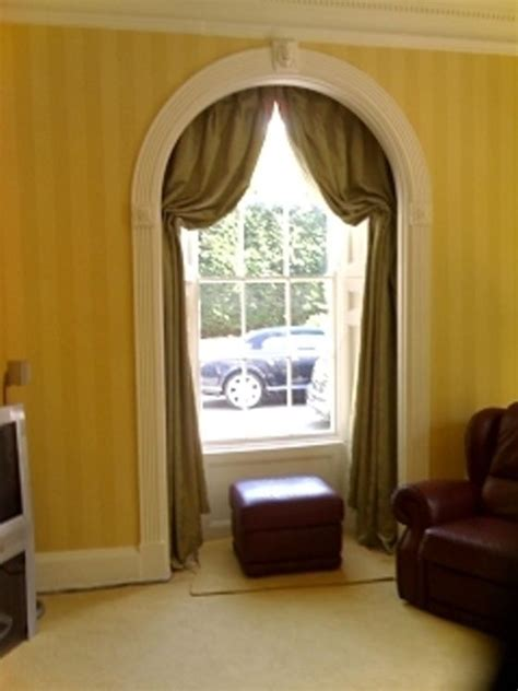 italian window treatments italian strung curtains in arched window arched window