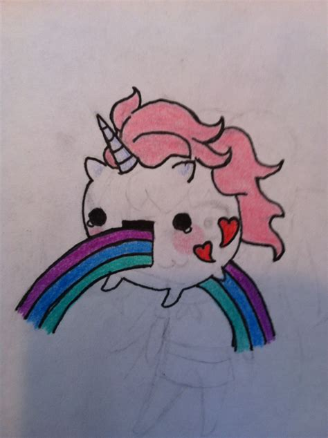 doodle how to make unicorn drawing of unicorn a rainbow by me