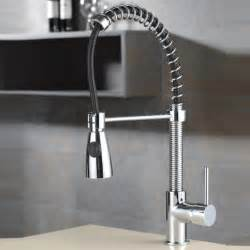 Faucets Kitchen by Kraus Single Lever Pull Out Kitchen Faucet Chrome Kpf 1612
