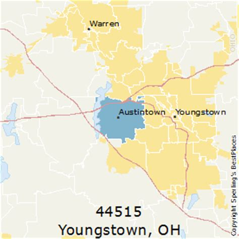zip code map youngstown ohio best places to live in youngstown zip 44515 ohio