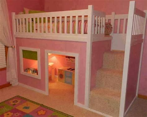 Girly Bunk Beds by Girly Bunk Bed Room Playhouse Loft Bed Diy