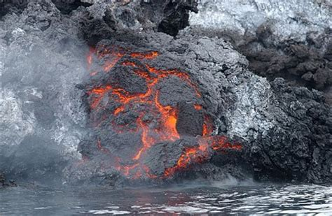 How To Make A Lava L For A Science Project by Accuweather Photo Gallery Lava Meets The Water Image