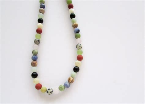 gemstone beaded necklace multicolor beaded