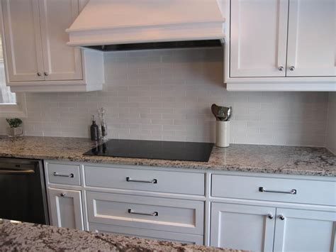 subway tile backsplash off white cabinets amazing tile