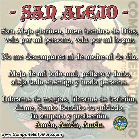 san alejo oracion para alejar malas lenguas enemigos oraci 211 n a san alejo contra enemigos ocultos comparte a