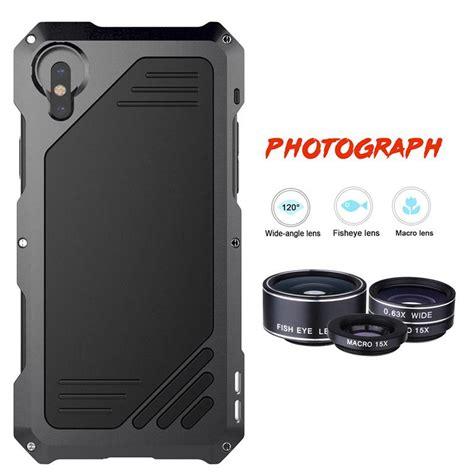 iphone xs max xr   metal phone case  clear