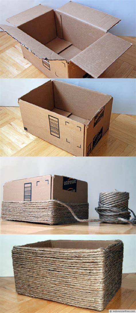 membuat rak make up dari kardus cara membuat kotak penyimpanan barang serbaguna dari
