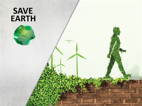 Save Earth Backgrounds Brown Green Grey Nature Save Environment Ppt Templates Free