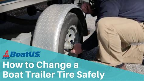 how to align boat trailer axles how to change a boat trailer tire safely boatus youtube
