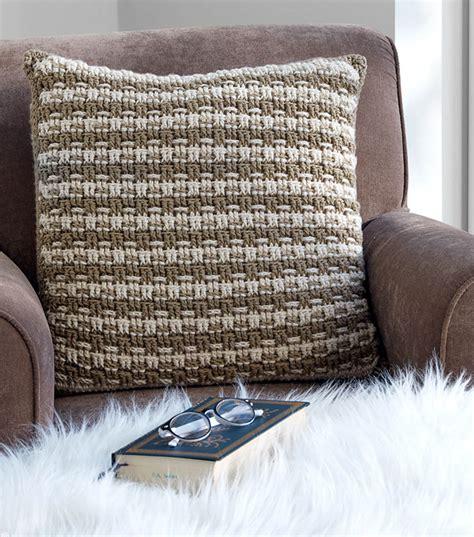 how to crochet a pillow how to crochet a woven look crochet pillow joann jo