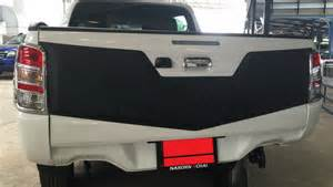 Mitsubishi Triton Tailgate New Mitsubishi L200 Animal Triton Matt Black Rear