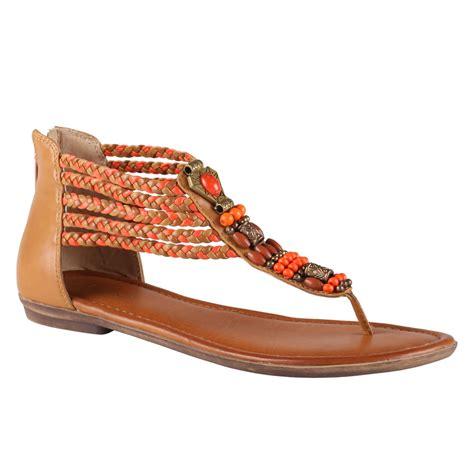 aldo sandals aldo catlin flat sandals in brown orange lyst