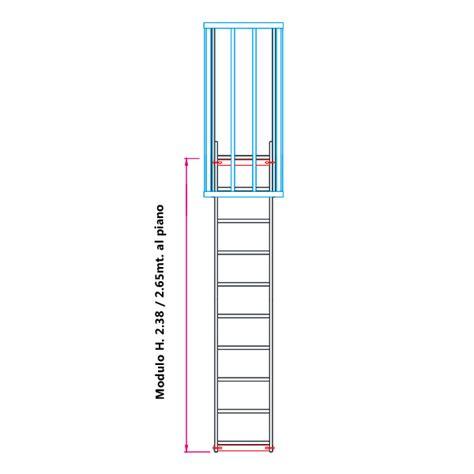 scala a gabbia scale con gabbia di protezione modulare n 176 2