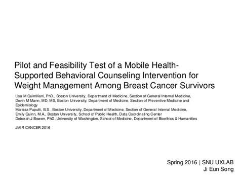 weight management mobile al pilot and feasibility test of a mobile health counseling