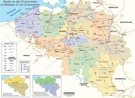 belgium provinces map map of belgium and its 10 provinces size