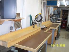 mitre saw bench anyone built a miter saw bench pirate4x4 4x4 and