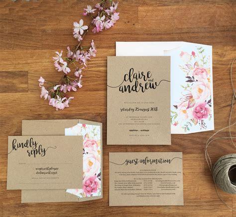 envelope liners for wedding invitations kraft wedding invites with roses envelope liner