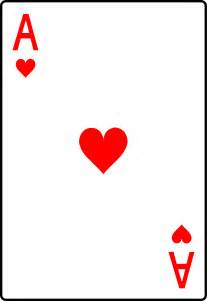 ace of hearts playing card free clip art
