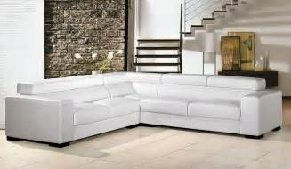 U Shaped Sofas White Leather Sectional Sofa Vg80 Leather Sectionals