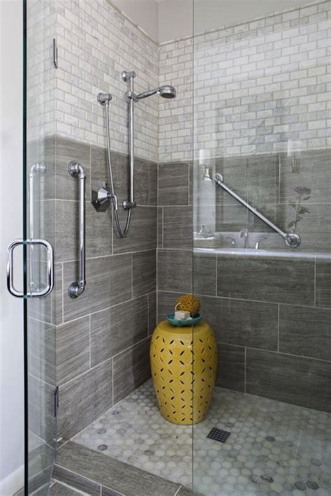 Shower Tile by Gray Shower Tiles Bathroom Erin Glennon