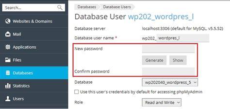 membuat database di account hosting 3 rumahweb s news merubah password user database di plesk panel wordpress