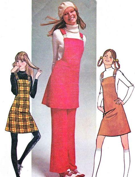 sewing pattern ladies pinafore dress 1970s simplicity 9525 mod suspender pinafore dress jumper