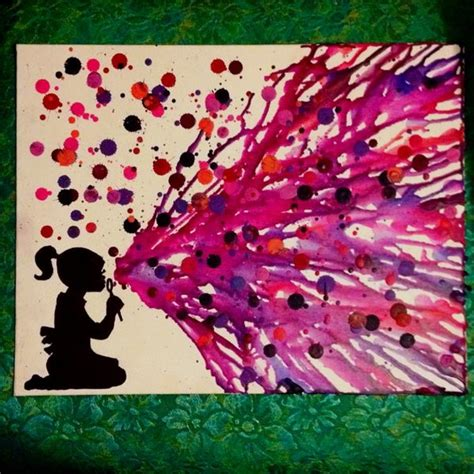 cool painting ideas 40 cool melted crayon art ideas