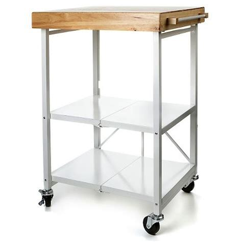 origami folding kitchen island cart compact living