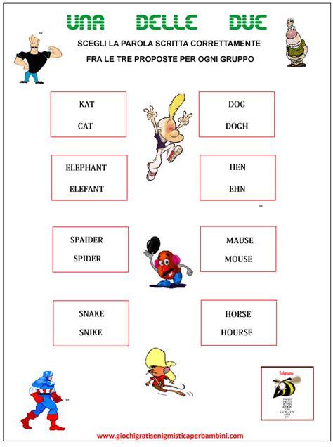 lettere d per ragazzi enigmistica per bambini in inglese il dell inglese