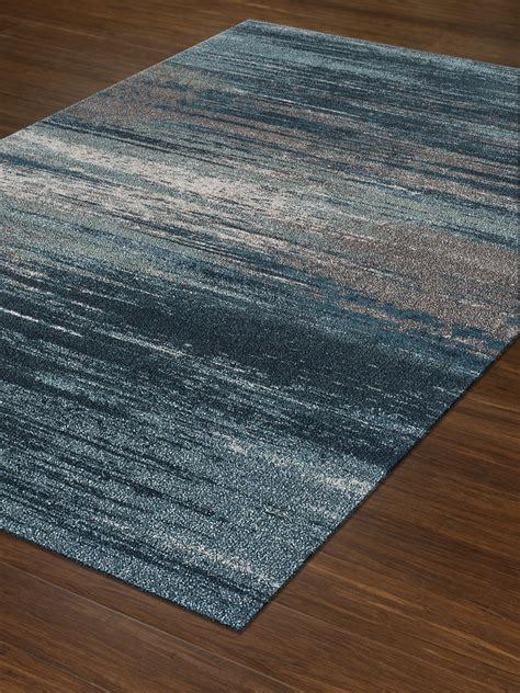 Through Rugs by Dalyn Modern Greys Mg5993 Teal Area Rug