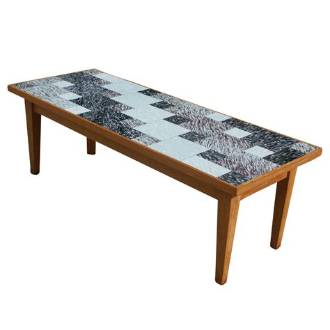 Retro Style Coffee Table Vintage Style Coffee Table With Glass Tile Ebay