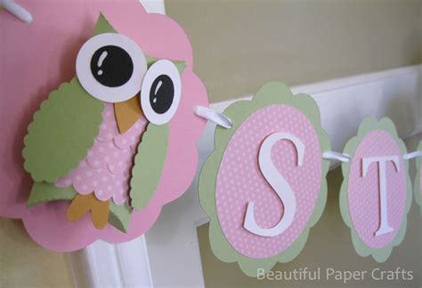 Pink And Green Decorations by Pink And Green Owl Name Banner Owl Birthday