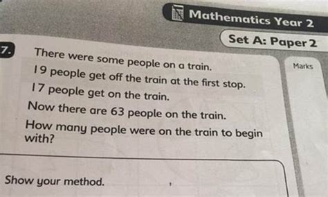 solve  childrens maths puzzle  leaving