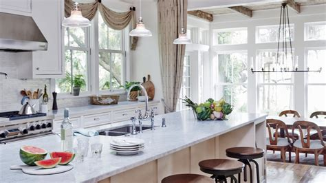 Ideas For Galley Kitchens 10 beautiful white beach house kitchens coastal living