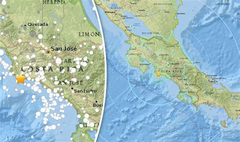 earthquake costa rica costa rica earthquake huge 6 8 magnitude quake strikes