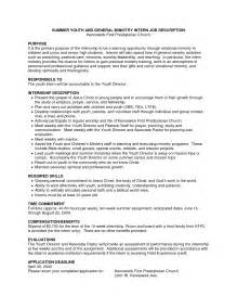youth pastor resume student resume template