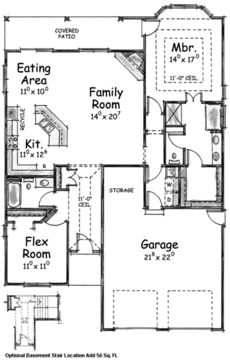 1905 sq ft the barrie house floor plan total kitchen traditional style house plan 2 beds 2 baths 1905 sq ft