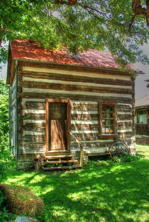 Pauls Cabin by Rabbit Hash Log Cabin Photograph By Paul Lindner
