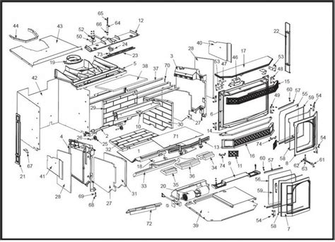 merrimack insert stove king 30004412 20a blower only