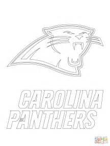 carolina panthers color carolina panthers logo coloring page free printable