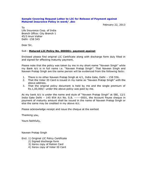 Payment Release Letter Template Credit Card Application Letter Format Terms Of Letter