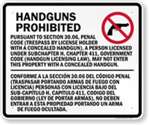 section 30 06 penal code section 30 06 texas concealed handguns prohibited sign