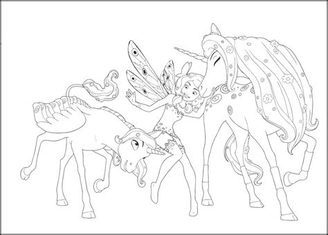mia and me coloring coloring pages