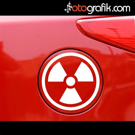 radyasyon depo kapagi sticker otografik